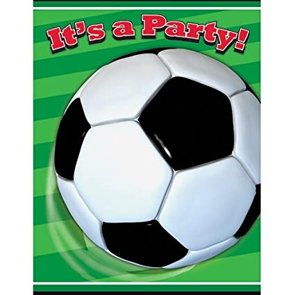 Amazon Com Soccer Party Invitations 8ct Kitchen Dining