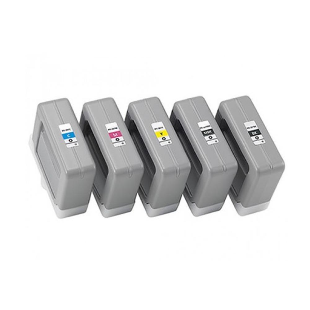 Toner Spot Remanufactured Full Color Set Ink Cartridges Replacement for Canon PFI-307BK PFI-307MBK PFI-307C PFI-307M PFI-307Y - Black, Matte Black, Cyan, Magenta, Yellow