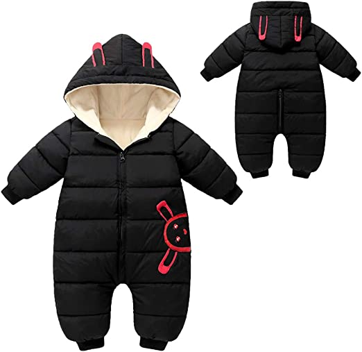 Happy Cherry Baby Snow Pants Down Trousers for Boys Girls Jumpsuit Romper Snowsuits Down 12-18 Months