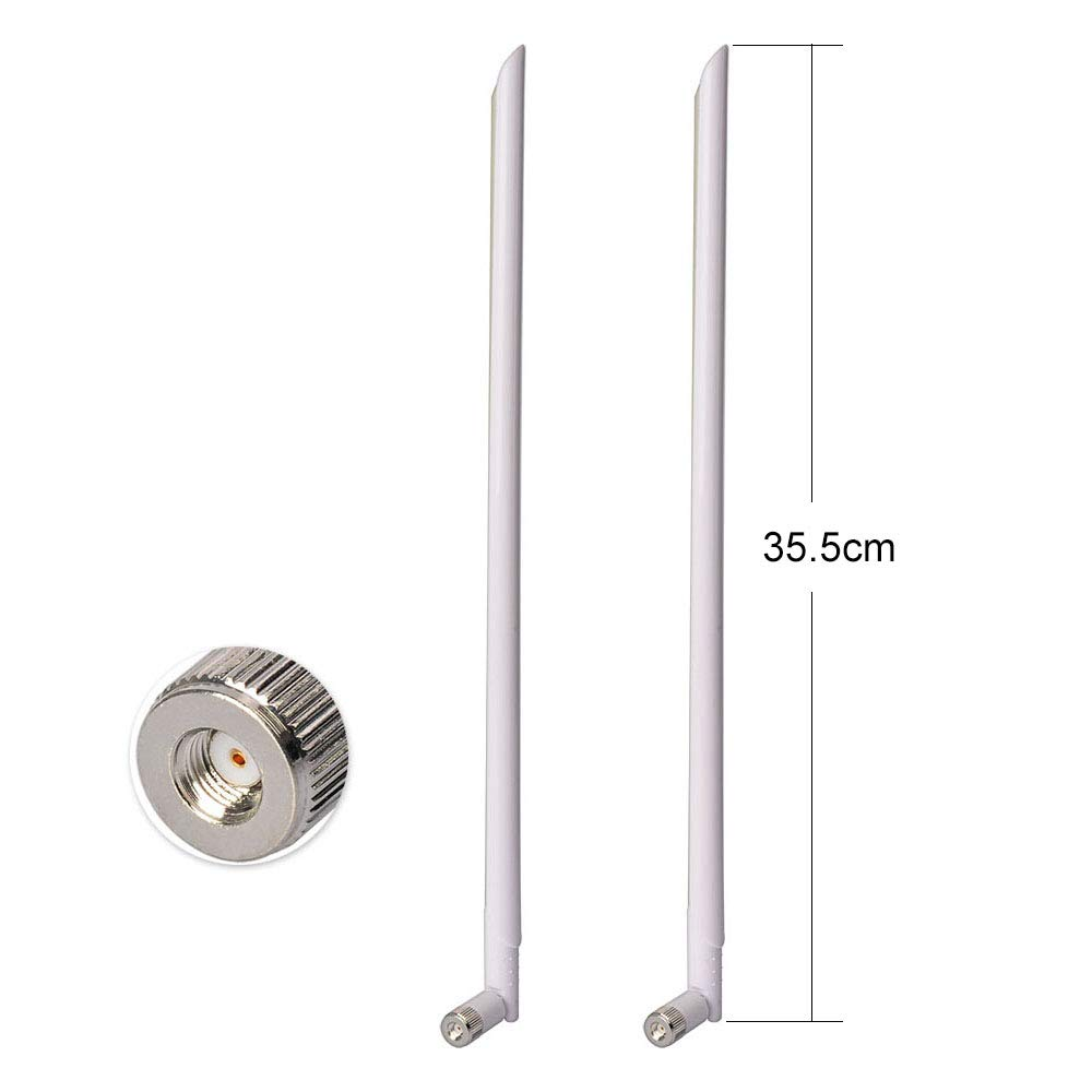Amazon.com: Superbat WiFi Antenna 2.4GHz Antenna 11dBi with RP-SMA Omni Connector for Wireless Network Router PCI Card WLANs 2-Pack: Computers & Accessories