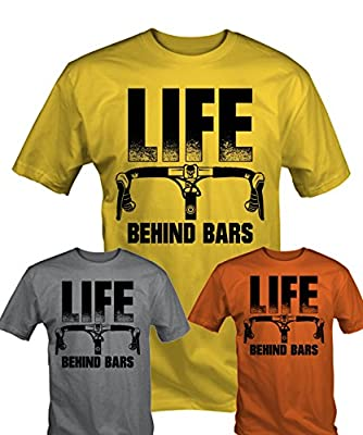 6TN Mens Life Behind Bars Funny Cycling T Shirt