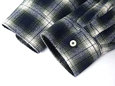 Mocotono Men's Long Sleeve Flannel Plaid Checkered Button Down Casual Dress Shirts