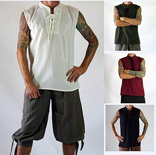 Foro Style Street Fitness Camicia Da Hip Uomo Verde Maniche Senza Top Gilet Hop Pirata Sportivo 7qOfxRI