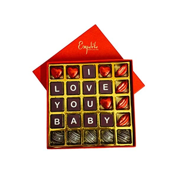 51lCGT%2BnYHL Expelite Personalised Valentines Day Gift / I Love You Baby Chocolate Box Chocolate Gift Pack