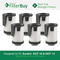 6 - FilterBuy Eureka DCF-10 & DCF-14 Washable and Reusable Compatible Filters. Designed by FilterBuy to Replace Eureka Part #s 62396 (DCF10) & 62731 (DCF14).