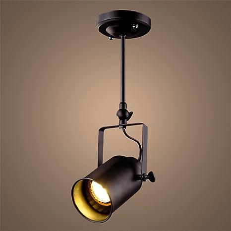 hierro LED Vintage Lámpara luces de de techo de negro techo HYW9bEI2De