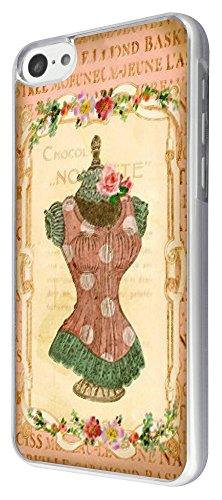531 - Vintage Shabby Chic Victorian Floral Roses mannequin Design iphone 5C Coque Fashion Trend Case Coque Protection Cover plastique et métal