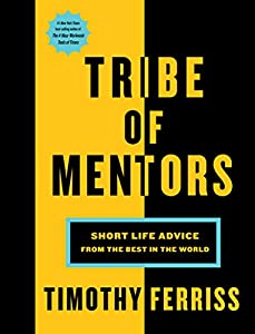 Tim Ferriss (Author) Release Date: November 21, 2017  Buy new: $30.00$18.00