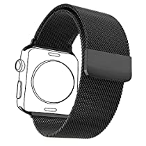 Bandmax Correa de Apple Watch 38mm/42mm con Protector de Pantalla Milanese Loop con Único Cierre Magnético para Apple Watch Series 1 & 2(5 colores)