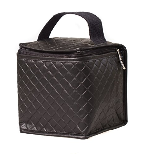Netkoolr Ronnie Insulated Mini Lunch Bag for men, women and kids, 100% Non-Toxic BPA Free Small Insulated Lunch Bag for Baby Food, Foldable Lunch Bag for snacks (Black) by Netkoolr