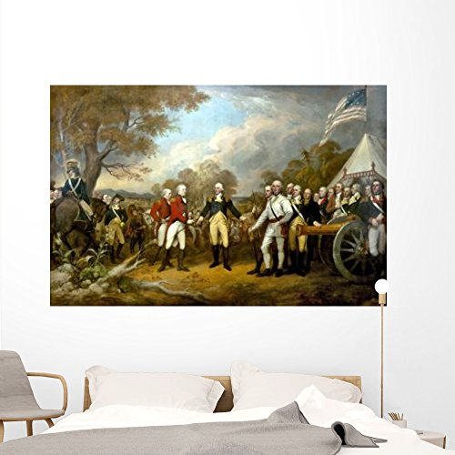 Revolutionary War Painting Showing Wall Mural by Wallmonkeys Peel and Stick Graphic (72 in W x 47 in H) - General Gates Horatio