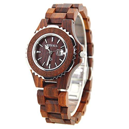 bewell-100bl-wooden-women-quartz-watch-lightweight-retro-wrist-watch-with-luminous-hands-wristwatche