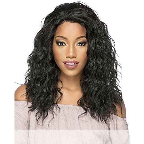 Amore Mio (Al-oksana) - Heat Resistant Fiber Swiss Lace Front Wig in OFF BLACK ()