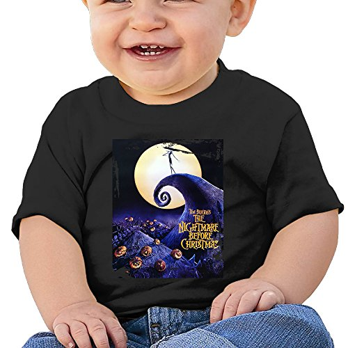 [DVPHQ Baby's The Nightmare Before Christmas Tshirts Little Unisex Black Size 6 M (6-24 Months)] (Dwayne Johnson Baby Costume)