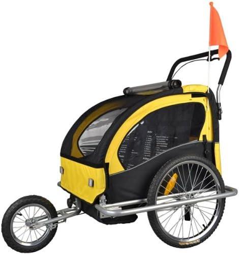 Tiggo Jogger Remorque /à V/élo 2 en 1 Amortisseur 802-D03 JBT03N pour Enfants Orange-Noir