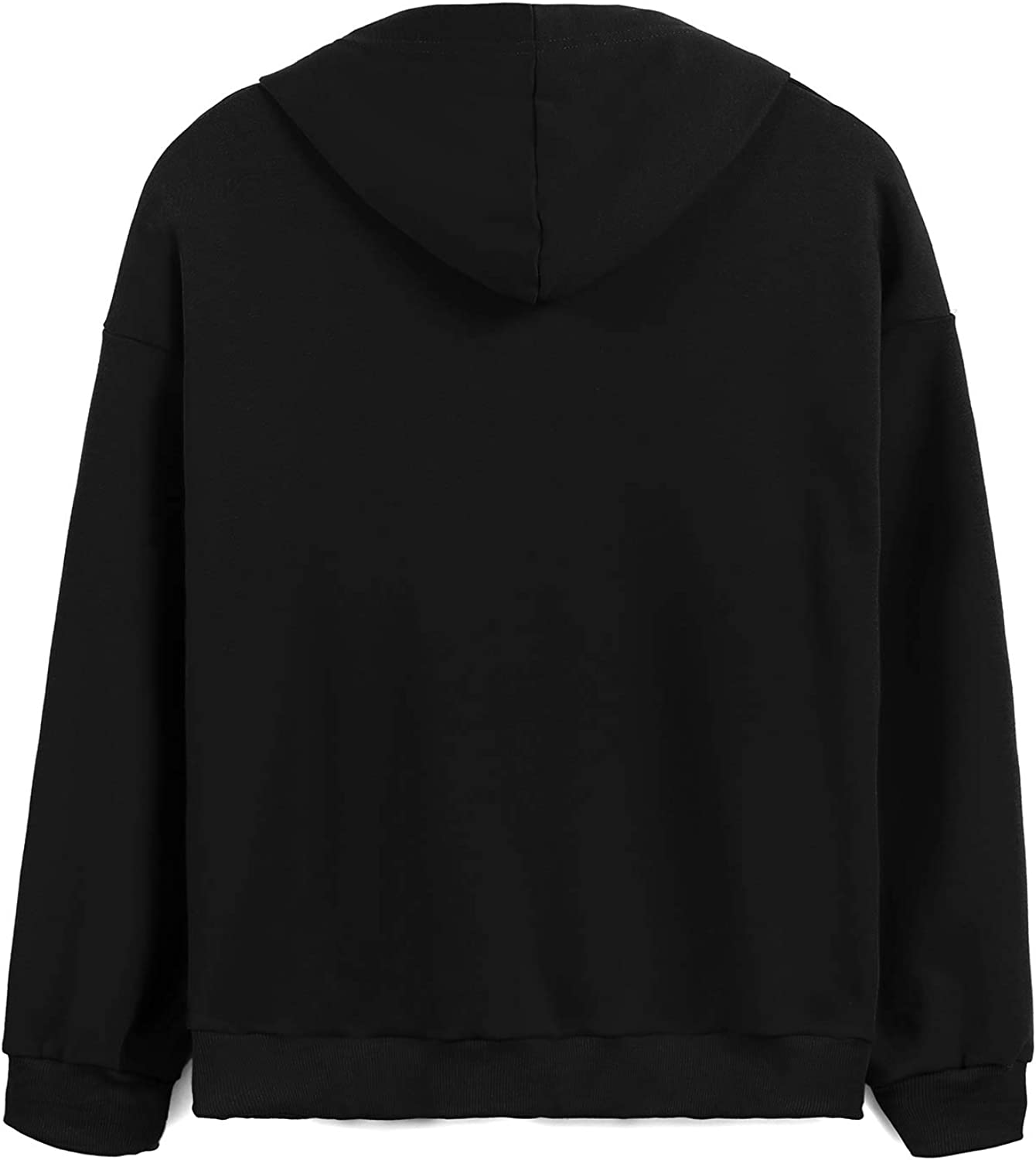 Donnalla Womens Long Sleeve Hoodies Sequined Tops O-Neck Funny Graphic Pullover Shirt Sweater