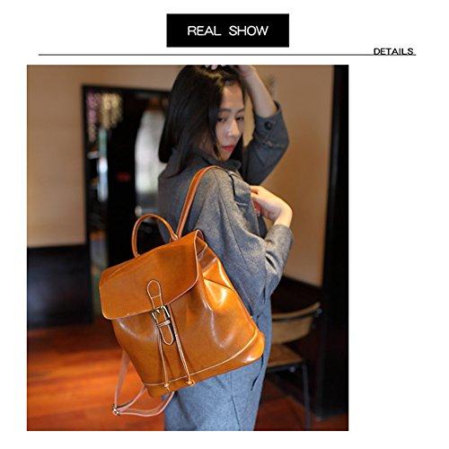 cuir sac à sac antique brun voyage femmes Yoome sac filles à dos dos de dames à Rouge Vintage bandoulière Vin sac en PFwX8q