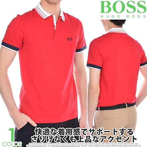 ヒューゴボス HUGO BOSS ポール 3 半袖ポロシャツ XL レッド B07Q7ZDVGC