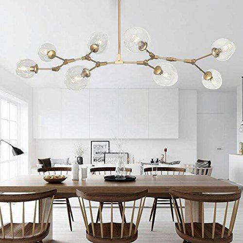 New Modern Clear Glass Pendant Light 8 Lindsey DIY Design Dendriform Chandeliers Ceiling Lamp Copper