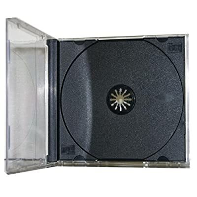 100 Pack Premium Standard Single Black CD Jewel Cases by Generic
