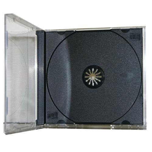 100 Pack Premium Standard Single Black CD Jewel Cases by Generic
