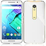 Moto X Pure Edition Case, PLESON [Tou] Motorola Moto X Pure Edition / Moto X Style Case, Crystal Clear/ Lightweight/Exact Fit/NO Bulkiness Clear Back Panel+Bumper Case for Moto X Pure Edition (2015)
