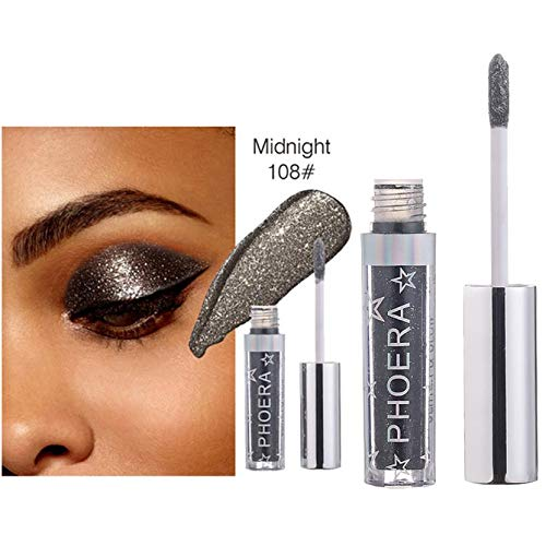 12 Color Charm Magnificent Metals Glitter Glow Liquid Eyeshadow Pallet Shadows Makeup Pallete Far Gray (Charm Trio Eye Shadow)