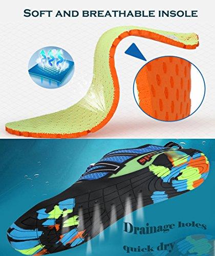 Chaussures Dame Leaproo Plage Surf Aquatique Pour Unisexe Bleu Yoga Nager D'eau Chaussettes De Hommes Sport OYf85fqr