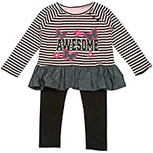 Diva Girls & Toddlers Clothing Set With Leggings and Tunic Top