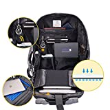 Sosoon Laptop Backpack, Business USB Charging Anti-Theft Backpack Waterproof Outdoor Lightweight Travel Backpack Up to 15.6 Inches with External USB Charging Port & Bluetooth Locator Pet Tracker