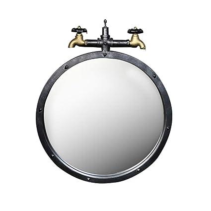 Amazon Com Retro Round Wall Bathroom Mirror Hanging Mirror