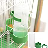 Patgoal 4 Pcs Pet Bird Plastic Drinker Feeder