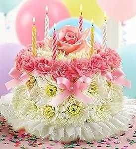 Flowers by 1800Flowers - Birthday Flower Cake Pastel