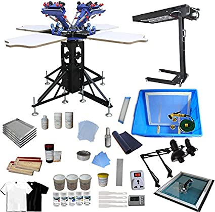 Amazon Com Silk Screen Printing Machine 4 Color 4 Station Screen