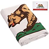 FBNC California State Embroidered Flag 3×5 Ft Durable Nylon CA Republic State Flag with Brass Grommets Review
