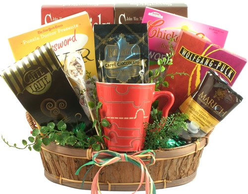 Coffee Lovers Gift Basket | Gourmet Coffee, Mug, Crossword Puzzels, Coffee-Flavored Candy and More