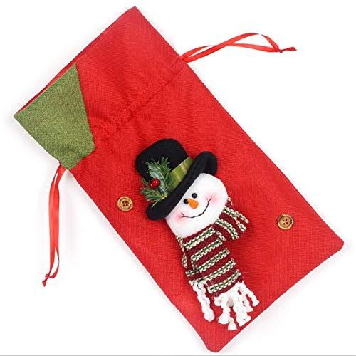 Minecraft Bag - Christmas Gift Bags Drawstring Santa Sack Cotton Linen Bag Bottle Cover Xmas Decoration Year Dinner - Stockings Holders Stockings Gift Holders Small Cloth Cotton Blue Drawstring