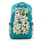 Mariego Diaper Backpack Bag with Insulated 2 Bottle Pockets (Blue Printing Floral)