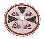 Primode Tree Skirt, Woven Jacquard 50 inch Xmas Holiday Tree Ornaments