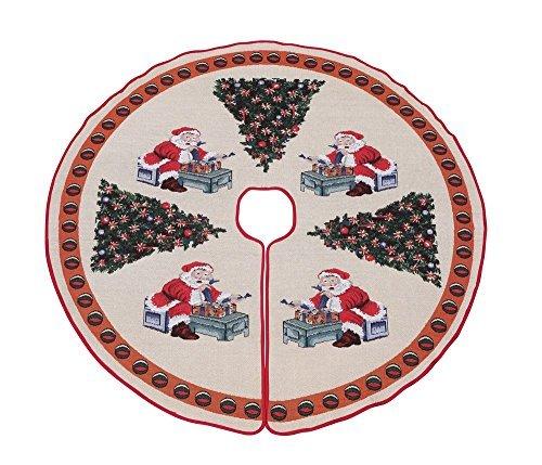 Primode Tree Skirt, Woven Jacquard 50 inch Xmas Holiday Tree Ornaments
