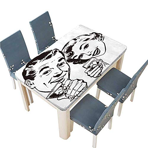 PINAFORE Polyester Tablecloth Table Cover Couple with Cocktails