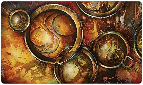Inked Playmats スクランブリングタイムプレイマット インキッドゲーム MTG ポケモン ハースストーン&遊戯王マジック ザ・ギャザリング TCG ゲームマット 抽象アート