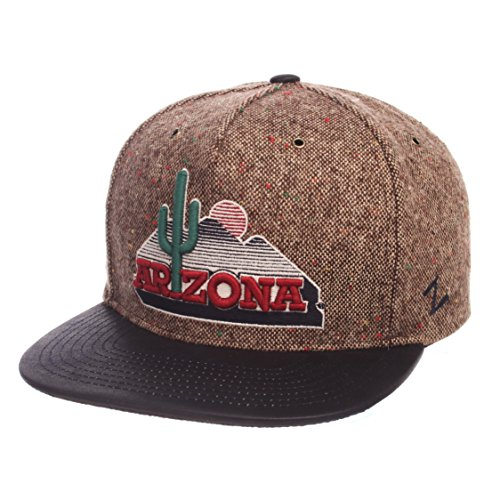 Arizona Wildcats Hat (Zephyr NCAA Arizona Wildcats Adult Men Legend Heritage Collection Hat, Adjustable, Tweed)