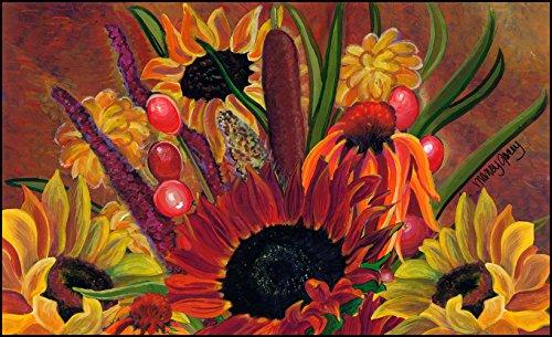 UPC 017917038521, Toland Home Garden Cattail Bouquet 18 x 30-Inch Decorative USA-Produced Standard Indoor-Outdoor Designer Mat 800096