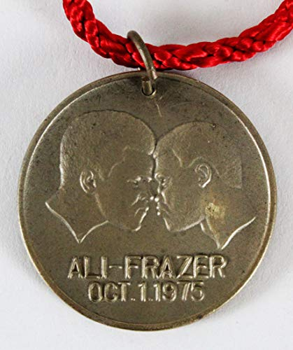 Joe Frazier vs. Muhammad Ali Coin Medal Thrilla in Manila Necklace