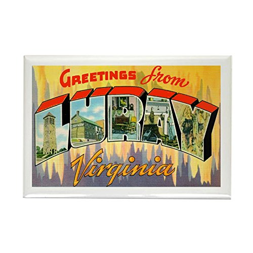 CafePress Luray Virginia Greetings Rectangle Magnet, 2