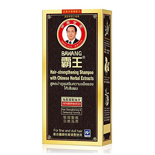 Mint Dha - Bawang Hair Strengthening & Darkening Shampoo with Chinese Herbal Extracts (Pack of 1 - 13.5 Oz / 400 ml) For Fine & Dull Hair Ship with Tracking Number
