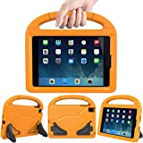 Lmaytech Kids case for iPad Mini 4 5 - Light Weight Shockproof Super Protection Portable Handle Friendly Convertible Stand Kids Case for iPad Mini 4, iPad Mini 5(2019 5th Generation), Orange