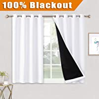 Deals on Ryb Home 100 Percent Blackout Window Curtain Panels 52 x 45-in