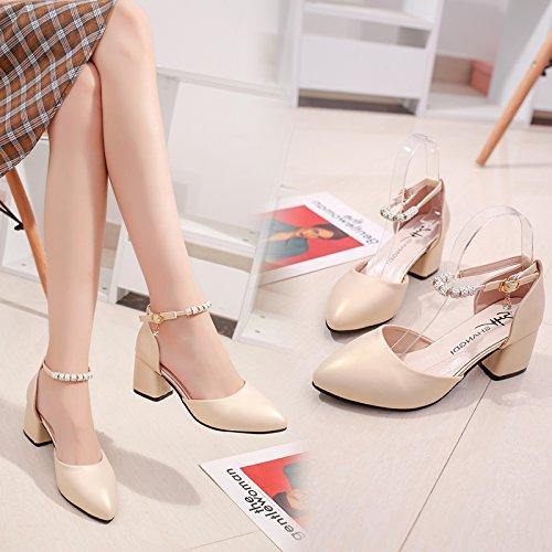 Heeled EU34 Baotou Percer Femmes Avec De Chaussures Femmes High Fendue L'Eau SHOESHAOGE Chaussures Sandales wOSZpXqOA